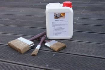 HABiol UV Terrassen Öl 5 Liter mit 3-Teiligen Pinselset