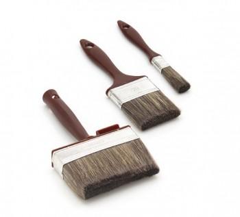 3-Teiliges Profi Holzschutz Pinsel Set ideal zur Verarbeitung von HAresil