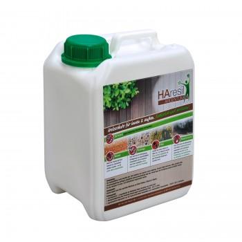 HAresil Argentum Holzschutzlasur auf Wasserbasis im 2,5l Kanister Fertigmischung
